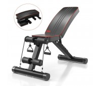 Yoleo Adjustable Weight Bench Utility Full Body Workout 330lbs Foldable Home Gym